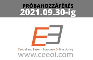 2021. szeptember 30-ig elérhető a CEEOL adatbázis!
